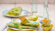 Zielone naleśniki z purée z warzyw