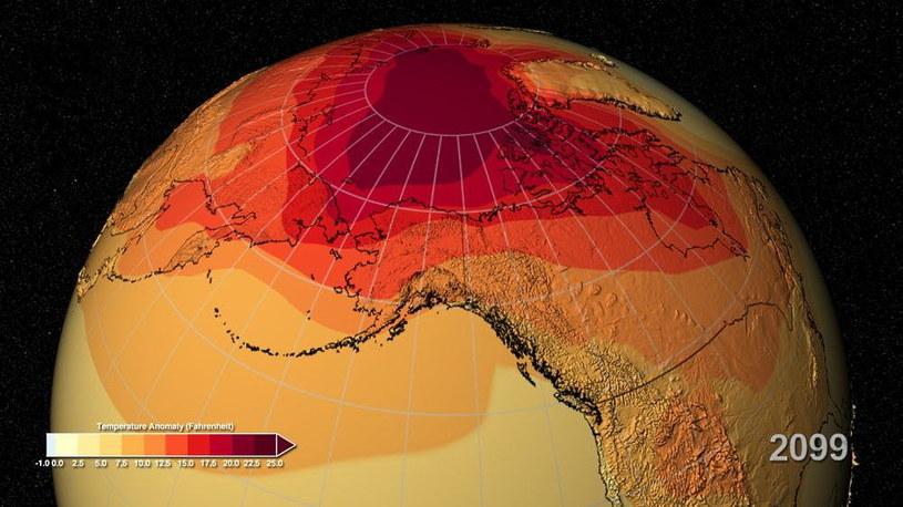 Ziemia jest w niebezpieczeństwie, ale nadal jest dla niej nadzieja. Na zdjęciu - symulacja efektu cieplarnianego przeprowadzona przez NASA /materiały prasowe