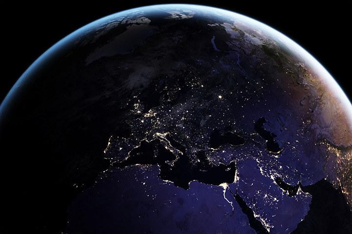Ziemia nocą /NASA
