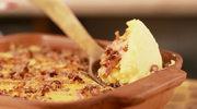 Ziemniaki duszone z serem cheddar