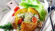 Ziemniaki faszerowane ziołowym serem