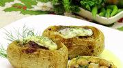 Ziemniaki z farszem pieczarkowym