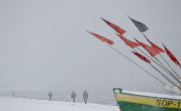 Zima na plaży w Sopocie