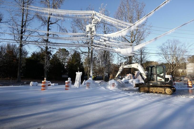Zima w amerykańskim miasteczku Dunwoody /PAP/EPA