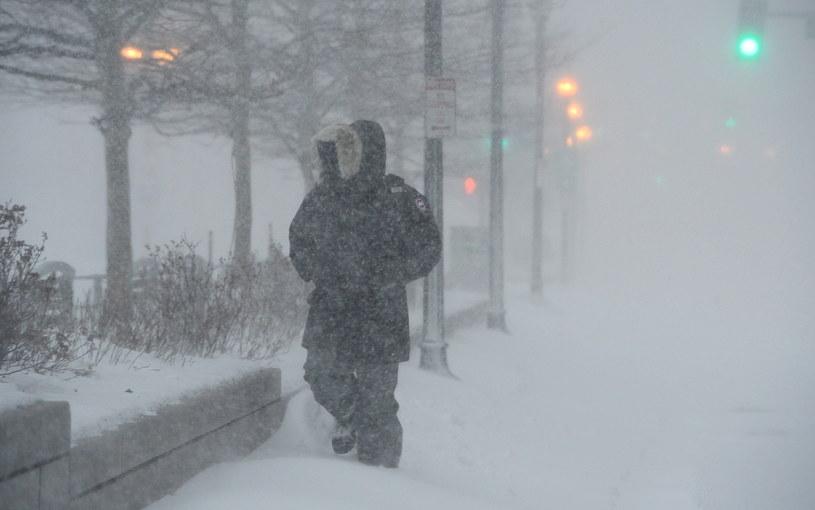 Zima w Bostonie /PAP/EPA