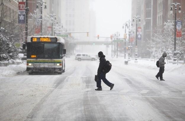 Zima w Detroit /AFP