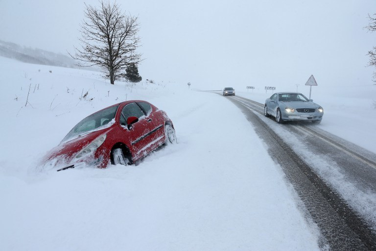 Zima w Hiszpanii /AFP