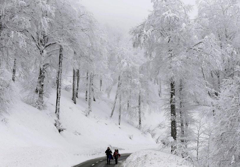 Zima w Hiszpanii /PAP/EPA