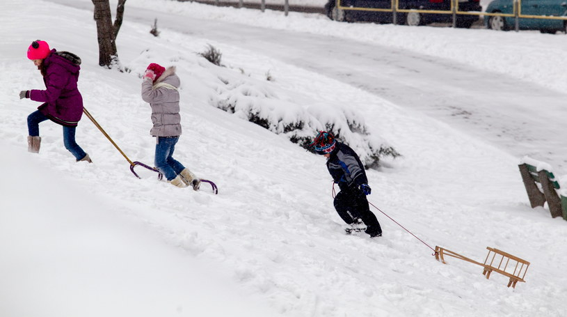 Zima w Katowicach /Andrzej Grygiel /PAP