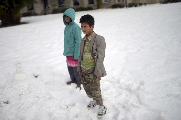 Zima w Syrii /AFP