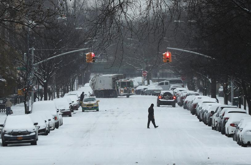 Zima w USA; Nowy Jork /AFP