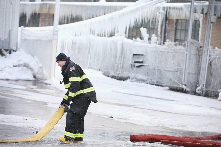 Zima w USA /AFP