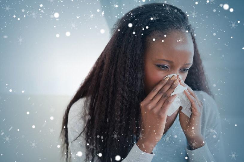 Zimą warto chronić także nos /123RF/PICSEL