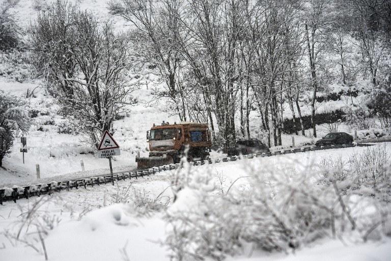 Zima we Francji /AFP