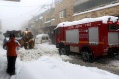 Zima zaatakowała w Izraelu
