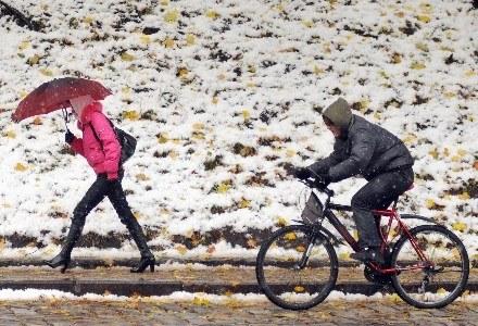 Zima zaskoczyła - jak zawsze /AFP