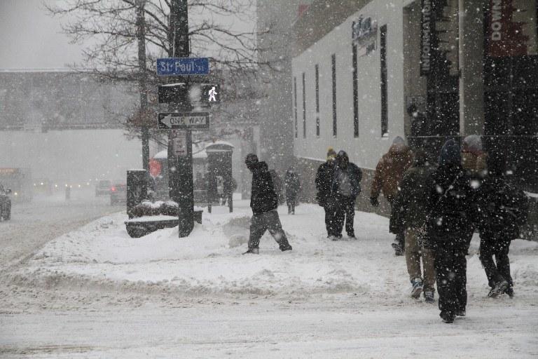Zimowa aura w USA /AFP