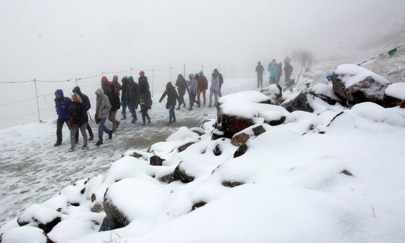 Zimowe warunki w rejonie Kasprowego Wierchu /Grzegorz Momot /PAP