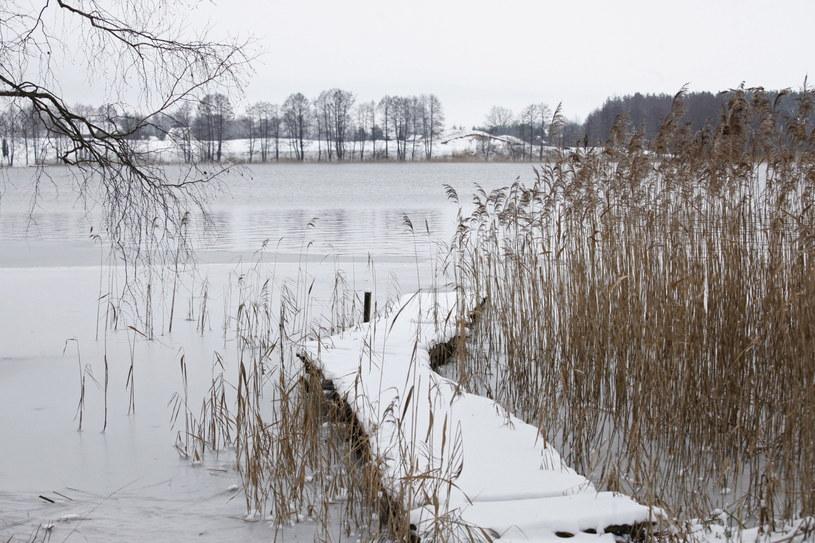 Zimowy pejzaż w Aleksandrowie na Podlasiu /Artur Reszko /PAP