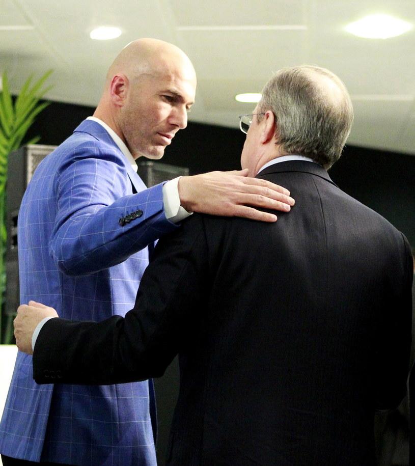 Zinedine Zidane i Florentino Perez /PAP/EPA
