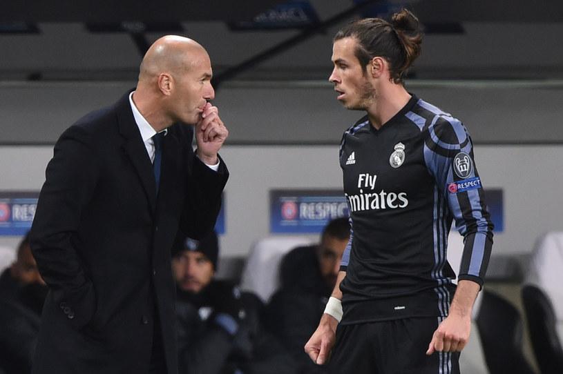 Zinedine Zidane i Gareth Bale /Janek Skarżyński /AFP