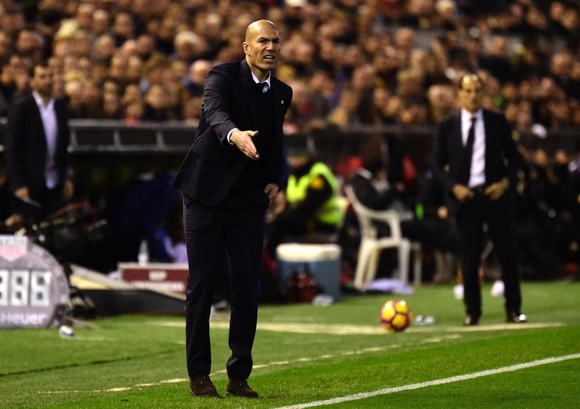 Zinedine Zidane, trener Realu Madryt /AFP