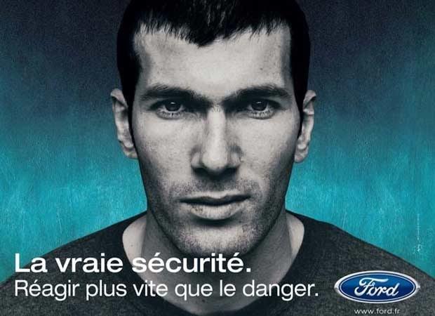 Zinedine Zidane w reklamie Forda (kliknij) /INTERIA.PL