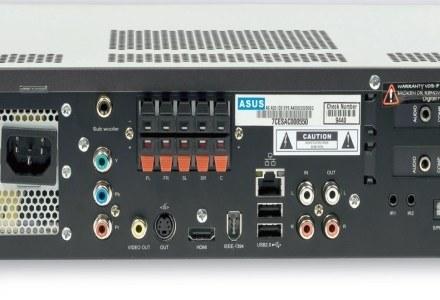 Złącza: Ethernet, USB, do głośników systemu 5.1, dwóch hybrydowych tunerów TV, HDMI i WLAN /Next