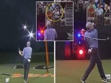 Złamany kij golfisty uderzył widza