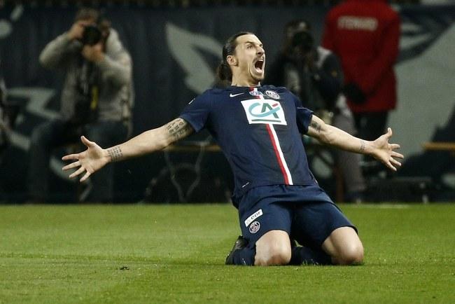 Zlatan Ibrahimovic goni rekord PSG /YOAN VALAT  /PAP