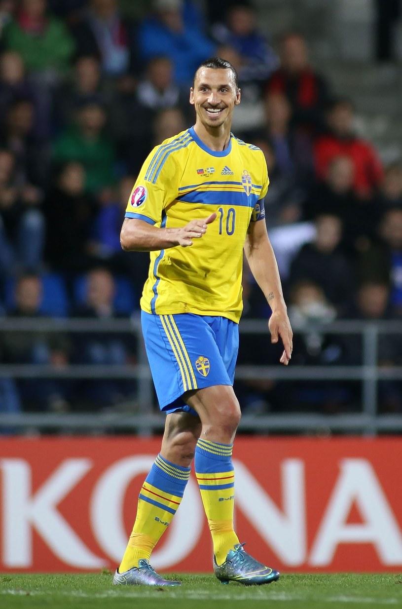 Zlatan Ibrahimović - gwiazdor reprezentacji Szwecji /AFP