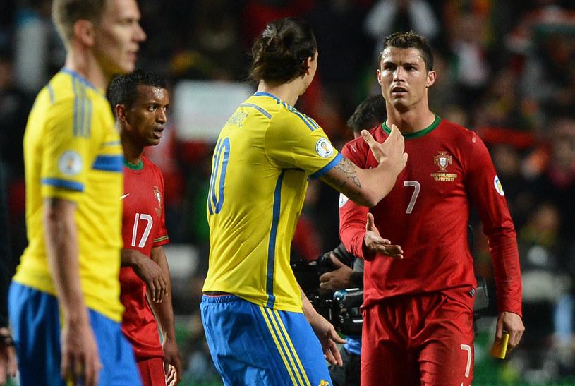 Zlatan Ibrahimović i Cristiano Ronaldo dziękują sobie po meczu /AFP