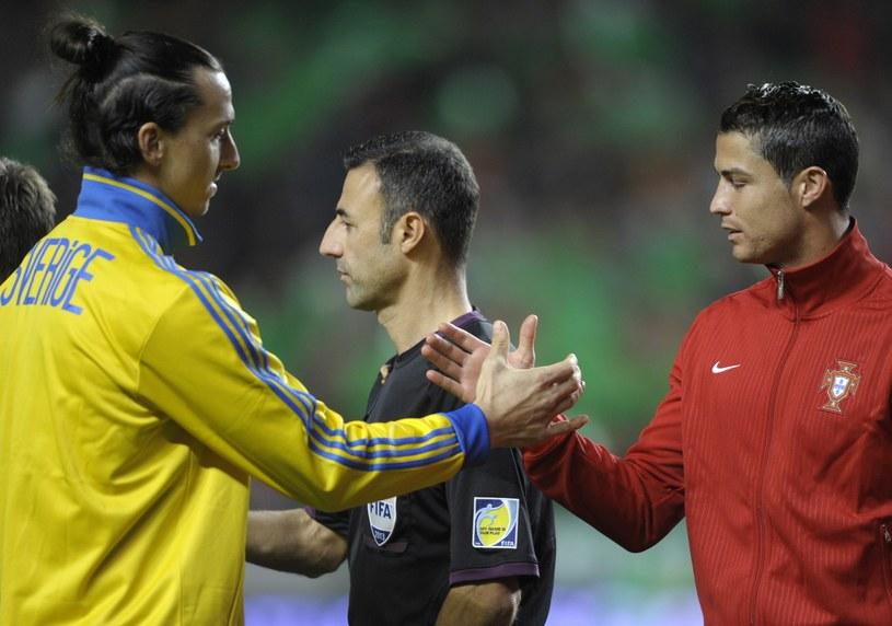 Zlatan Ibrahimović i Cristiano Ronaldo rywalizują o miejsce na mundialu /AFP