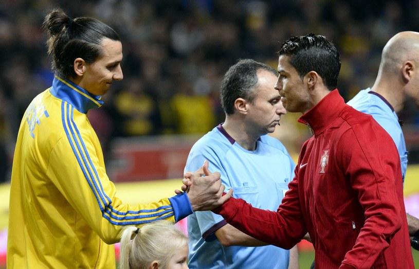 Zlatan Ibrahimović i Cristiano Ronaldo (z prawej) /AFP