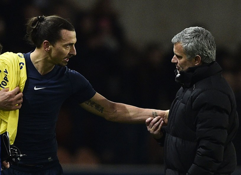 Zlatan Ibrahimović i Jose Mourinho /AFP