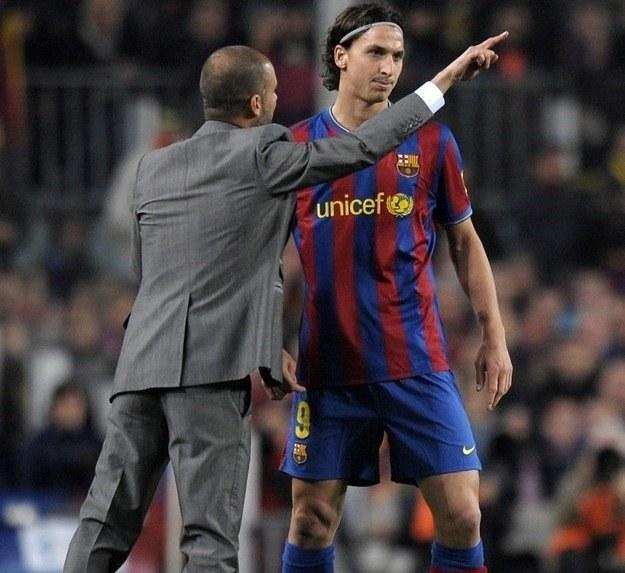 Zlatan Ibrahimovic i trener Barcelony Pep Guardiola /AFP