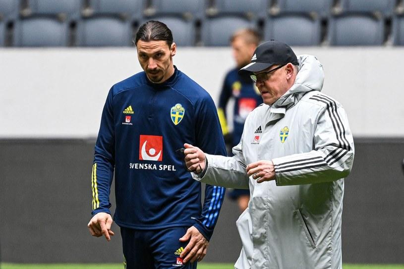 Zlatan Ibrahimović i trener Janne Andersson /AFP