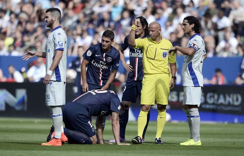 Zlatan Ibrahimović już z urazem /AFP
