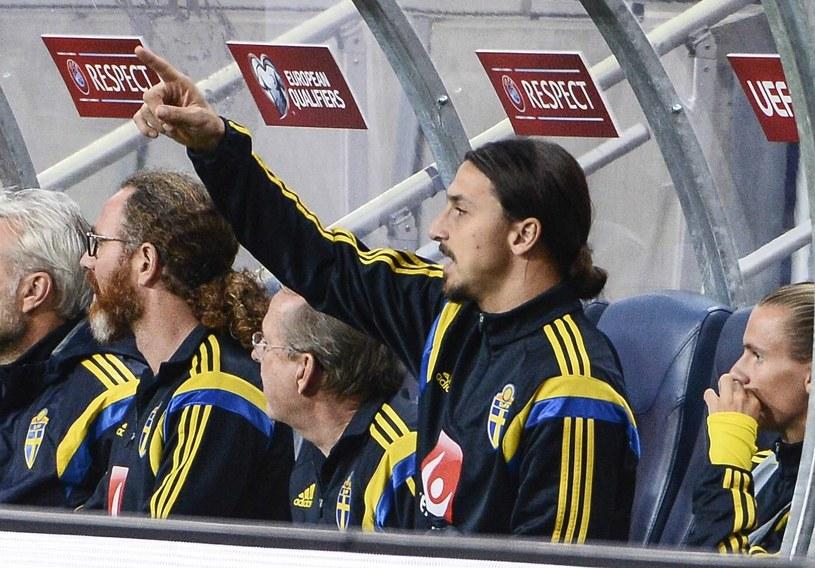Zlatan Ibrahimović mecze reprezentacji Szwecji oglądał z ławki rezerwowych /AFP