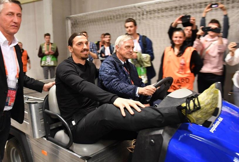 Zlatan Ibrahimović na finale Ligi Europy w maju /AFP