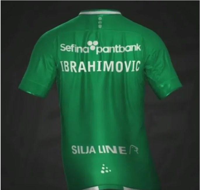Zlatan Ibrahimović opublikował nawet swoją koszulkę w barwach Hammarby /AFP