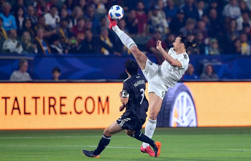 Zlatan Ibrahimović w akcji /AFP