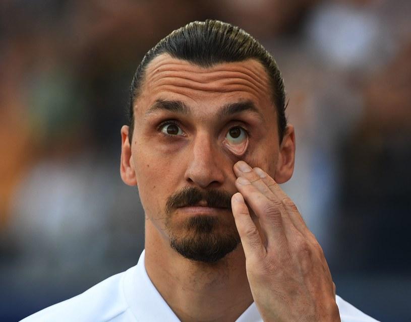"""Zlatan Ibrahimović zdaje się mówić: """"FIFA zabroni mi wyjazdu na MŚ? Jedzie mi tu czołg?"""" /AFP"""