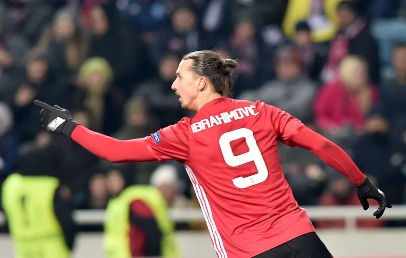 Zlatan Ibrahimović zdobył oba gole w wygranym 2-0 meczu z West Bromwich Albion /fot. SERGEI SUPINSKY /AFP
