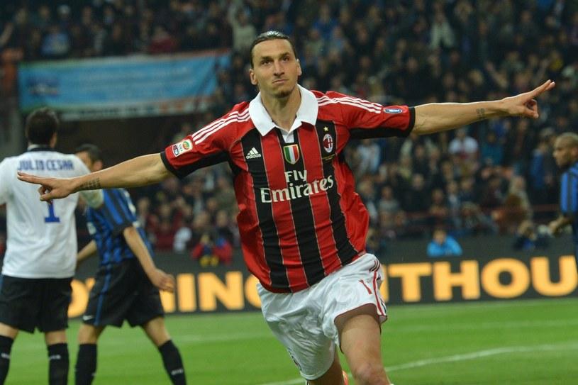 Zlatan Ibrahimovic żegna się z AC Milan /. /AFP
