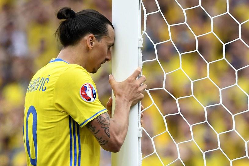 Zlatan podczas meczu z Włochami na Euro /AFP