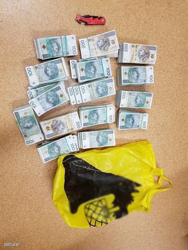 Złodziejowi ostatecznie nie udało się ukraść pieniędzy /Policja Łódź /