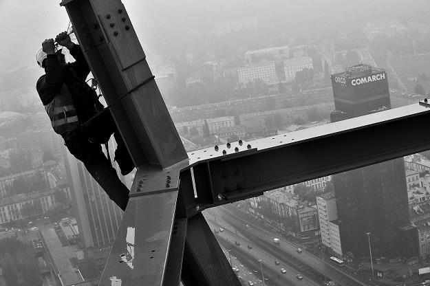 Złota 44 w Warszawie w trakcie budowy /
