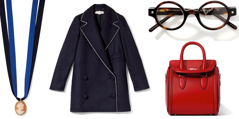 złota kamea Red Rubin | płaszcz Stella McCartney | okulary Oscar Magnuson | torebka Aleksander McQuin /Twój Styl