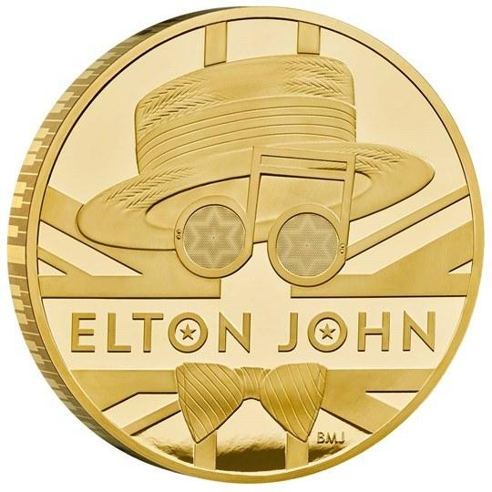 Złota moneta poświęcona Eltonowi Johnowi /THE ROYAL MINT /